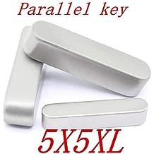 Ochoos 10PCS 87L 8mm GB1096 Stainless Steel Dowel Drive Shaft Parallel Key Diameter: 8X7X25