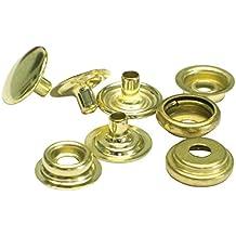 ":1//2/"" 100 QTY Baby C.S.Osborne K3708-11-C Nickel Plated Steel Snap Set,Size 20"