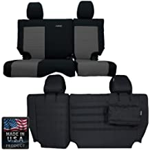 2011-2012 Jeep Wrangler JK 2-Door Bartact BTJKSC1112R2BG Black//Graphite Mil-Spec with MOLLE System Rear Bench Seat Covers