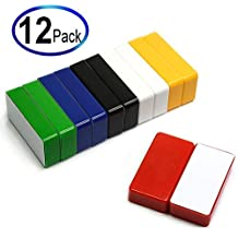 20 Pieces 16x2mm DIY Personalized Multi-Use for Fridge Door Whiteboard Map Bulletin Boards Refrigerators Magnets