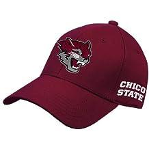CollegeFanGear Chico State Maroon Fleece Hoodie Wildcat Full Body
