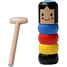 Magic Tricks Funny ToyNew Immortal Daruma Halloween Magic Tricks Funny Toy Stage Magic Props Halloween Christmas 2019 Funny Wooden Magic Toy Gift for Kid 2pc Unbreakable Wooden Man Magic Toy