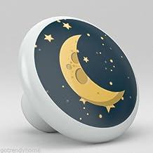 Spaceship Rocket Stars Nursery Ceramic Knobs Pull Closet Dresser Drawer 2009