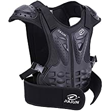 Dolity Motorcycle Vest Body Guard Chest Back Protector Vest Protector for Riding Cycling Skating Skiing Scooter Black