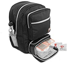 6b54c2b615 Fitmark Transporter Backpack with Removable Meal Prep Insulated Bag with  Portion Control Meal Containers, Reusable