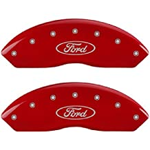 Red Powder Coat Finish, Engraved Front and Rear: MGP, Silver Characters, Set of 4 MGP Caliper Covers 23005SMGPRD Caliper Cover