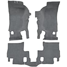 8075-Medium Grey Plush Cut Pile ACC Replacement Carpet Kit for 1988 to 1998 Chevrolet Standard Cab Pickup Truck