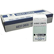 Perforated Guest Check PKG-CT-G3616 Single Part Bond Green 3.4 x 6.73 Qty: 1000 100 of 10 books