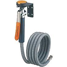 COMOK Auto Tire Double Head Inflator Rubber Air Pump Hose 29.5cm//11.6inch Length Black Silver Tone