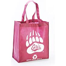 Montana State Contender White//Navy Canvas Tote Bobcat Head w// Montana State Bobcats Stacked