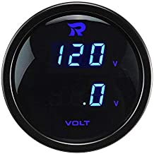 52/mm//2/In LCD MASO Digital Volt Voltage Gauge High Accuracy Voltmeter for Car//Trunk//Motor Blue LED Display/&Red Warning Lamp 0-15V