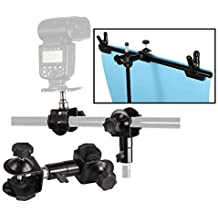 Max Load 3kg HUANGMENG HUANGMENG Flashes Accessories H Type Multifunctional Flash Light Stand Umbrella Bracket