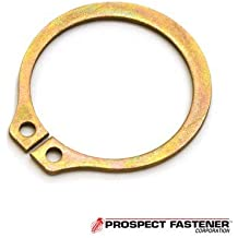 Thick Carbon Steel Zinc Dichromate Yellow44; 50 Pieces Style External Ring44.035 in C Rotor Clip C-62ST ZD .63 in