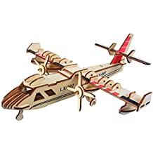 Apache Newsight 3D Wooden Puzzle Craft Toy,Woodencraft Assemble Kits Laser Cutting Wooden Puzzle Fun DIY Educational Assembled Toy for Adults and Kids