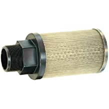 Flow Ezy Filters 2 Female NPT Aluminum Support Tube and End Cap Inc P30 2 NIPPLE 100 AL Suction Strainer with Nylon Connector End 100 Mesh Size 30 GPM Nipple Connection 2 Female NPT