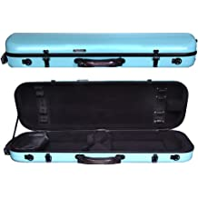 Tonareli Oblong Fiberglass Viola Case Special Edition Blue Checkered VAFO1005