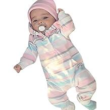 Suma-ma 6M-2T Baby Girls Flower Windproof Bubble Hoodie Coat Jacket Outwear