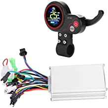 JU/&MU 24V 500W Motor Brushed Controller Throttle Twist Grip for Electric Bicycle Scooter Power Display Controlador Motor in Electric Bicycle Accessories