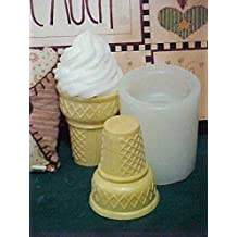 Cupcake with Swirl 1 Cavity Silicone Mold 1156 Food-Soap-Candle-Resin-Flexible