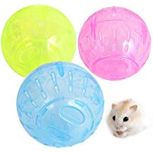 3.93in, Random Pet Rodent Mice Jogging Hamster Gerbil Rat Toy Plastic Exercise Ball Lovely Toy Funny Ball For Hamster Hedgehog Rat Squirrel Guinea Pig Rabbit Pet Supplies Rabbit Guinea Pig