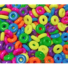 14mm Plastic Rings Multi Circus Color 100pc for crafts kids school birds toy VBS