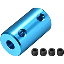 TOTOT 2X 8mm Flange Coupling 4X M4 Fastening Screw High Hardness Rigid Flanged Joint Shaft Coupler Motor Connector 1x M4 L Shape Allen Wrench