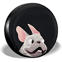 BAG9S-G French Bulldog Tire Covers Car SUV Camper Travel Trailer Spare Tire Tyre Cover