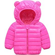 Mornyray Toddler Kids Boy Girl Light Down Jacket Warm Winter Outerwear Snowsuit