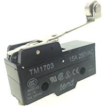 YXQ TM-1307 Micro Limit Switch AC 380V 15A SPDT NO NC Panel Mount Plunger Actuator Momentary