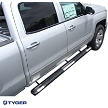 5/'/' Stainless/&Alloy Step Bars 76/'/'Fit 2007-2017 Silverado//Sierra Ext//Double Cab
