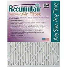 Accumulair Diamond 14x20x1 13.5x19.5 MERV 13 Air Filter//Furnace Filters Pack of 2