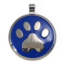 abc9312dc022 LuckyPet Pet ID Tag: Paw Print Jewelry Tag - Custom engraved cat tags and  dog