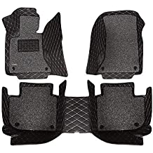 Black 1 AOYMEI Car Floor Mats for 2012-2018 Dodge Ram Crew Cab Double Layer Leather Fully Surrounded Removable Wire Loop All-Weather Waterproof Car Mats