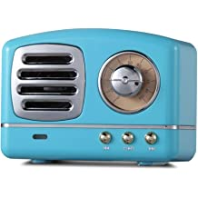 Retro Bluetooth Speakers,BVI BOOMERVIVI Mini Portable Wireless Speaker with Hands Free,Support AUX Play and TF Card Slot,Perfect for Home//Outdoor//Others Yellow