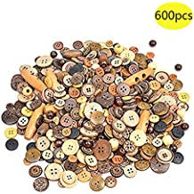 GANSSIA 7//8 22.5mm Buttons Sewing Button Color White Pack of 70 Pcs