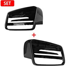 GreceYou Bright Black Carbon Fiber Cover Rearview Wing Mirror Case Cover For Mercedes-Benz C-Class W176 W246 W204 W212 W221 CLS X156 C117