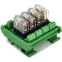 ASI ASI328036 ASIUDK-PLC-RI24VdcE Pluggable SPDT Relay with Low Profile DIN Rail Mount Screw Clamp Terminal Block Base 6 amp 250 VAC 24 VDC Coil UPUN