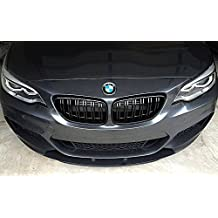 Deebior 2pcs For 2003-2009 BMW E60//E61 5-Series Sedan//Wagon BMW 525 528 530 535 540 545 550 M5 Glossy Black M-Tri Color Kidney Grille Front Bumper Hood ABS Plastic Grille