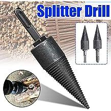 Cemilife Wood Splitter Screw Cone Firewood Splitter Drill Bit for Hand Drill Stick Copper 42mm Hex Shank