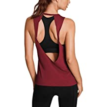 a3085b3ae0 Mippo Womens Activewear Sexy Open Back Yoga Shirt Workout Clothes Gym Sports  Tank Tops