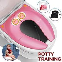Potty Training Seat,Netzu New Upgraded Folding Travel Portable Reusable Toilet /&