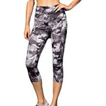 cb8a3aef86 Fitness Yoga Pants Ladies' Printed High Waist Trousers with Sloping  Pockets