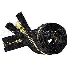 YKK #10 Brass Separating ~ Color 568 Seal Brown Sale 17\ Extra Heavy Duty Jacket Zipper 1 Zipper//pack Special Custom