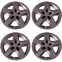 Set of 4 Silver 16 Inch Aftermarket Replacement Hubcaps with Bolt On Retention System IWC459//16S by IWC Part Number