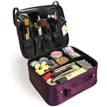 8f232da2ba7 Becko Professional Cosmetic Bag Portable Travel Makeup Bag Organizer Case  Box with Adjustable Divider for Artist, Actor, Model on Fashion Show, .