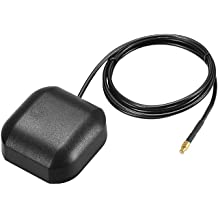 uxcell GPS Active Antenna MCX Male Plug 90-Degree 34dB Aerial Connector Cable with Magnetic Mount 0.5 Meters Wire S