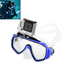 //3//2 //1 JINGZ Water Sports Diving Equipment Diving Mask Swimming Glasses for GoPro New Hero //HERO6 //5//5 Session //4 Session //4//3 Xiaoyi and Other Action Cameras Durable Color : Green