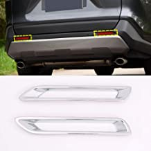 For Land Rover Range Rover Vogue Accessories 2018-2020 Chrome Front Center Grille Grid Protector Trim Front Fog Light Cover Molding Trim 6pcs