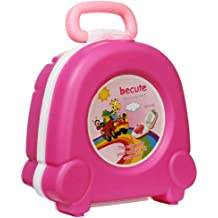 Travel Potty for Toddlers Car Vacations Rose Portable Kids Urinal Travel Potty Training Toilet Seat Perfect for Boys and Girls Camping Traveling