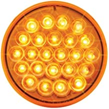 GG Grand General 76572 2 Inch Low Profile Pearl Red Led Light with Pigtail /& S.S Rim
